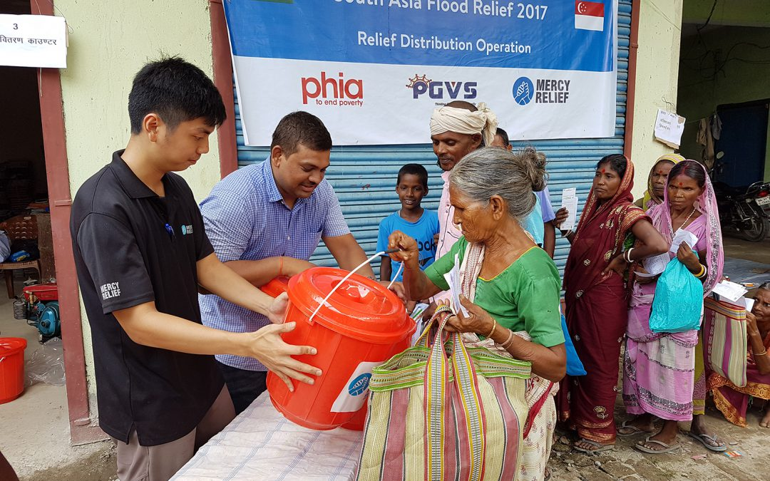 Mercy Relief continues South Asia Floods aid distribution in multi-country disaster response – Club 21 partners with Mercy Relief to support fundraising