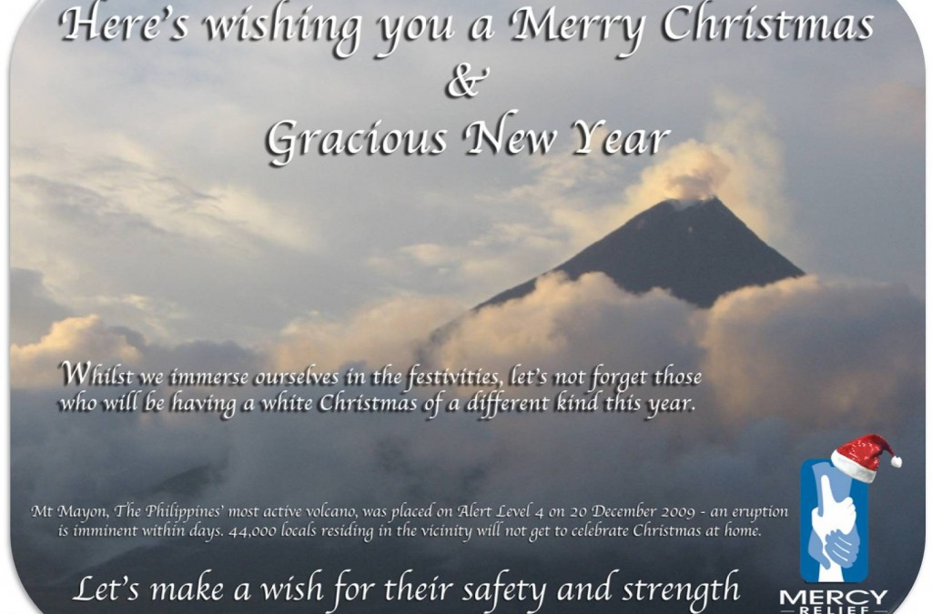A season of joy & grace – make a wish for Mt Mayon residents. Happy Holidays!