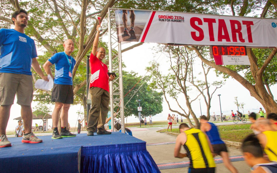 Participants experience hardship over a 5KM course at Singapore's First Humanitarian Run