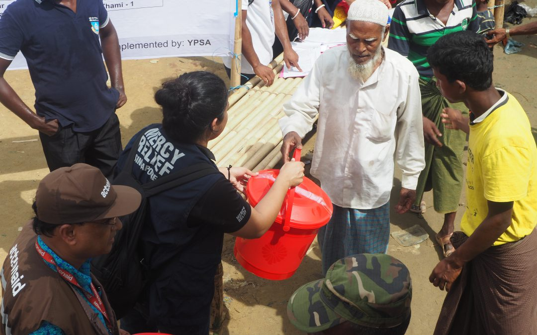 Mercy Relief facilitates on-ground aid distribution to communities affected by humanitarian crisis in Rakhine state
