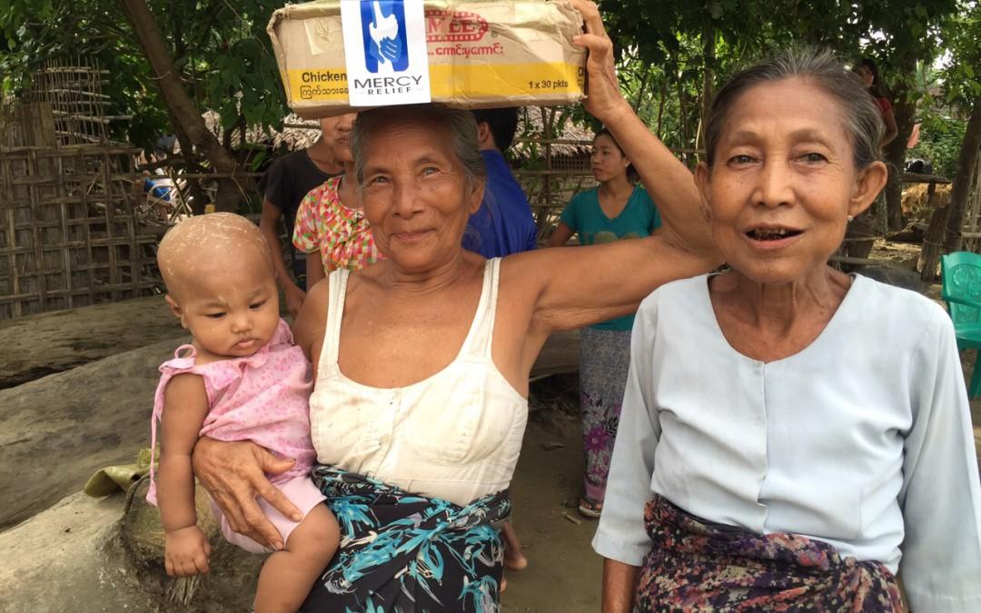 Mercy Relief distributes critical food supplies to Rakhine state's flood stricken communities