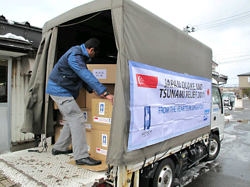Ops Japan Earthquake & Tsunami (JET) Relief Update #1: MR Established Logistics Network, Second Relief Team Deployed