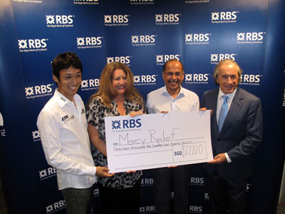 Royal Bank of Scotland supports Mercy Relief's humanitarian efforts