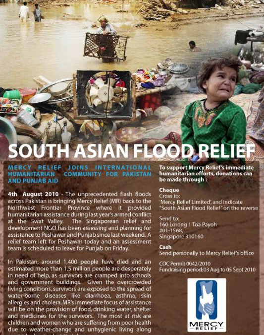 Pakistan Floods Relief Update – 5th August 2010